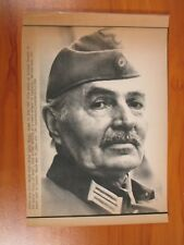 Vintage AP Wire Press Photo Actor James Mason Stars in Cross of Iron