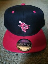 Coyote Wolf Red And Black Snapback Hat