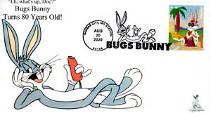 Bugs Bunny 80th Anniversary First Day Cover #3 of 10  (B&W cancel)