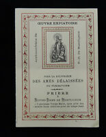 Antique Member Card Archiconfrerie de Notre Dame de Montligeon 1915