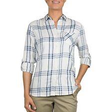 Woolrich Lightweight Flannel Plaid Shirt BLUE SKIES Women's Sz. L NWT MSRP$59