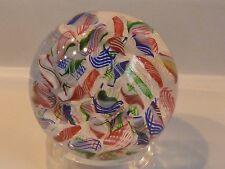 Baccarat France Jewel Tone CANDY CANE Colors MACEDOINE Paperweight EC Signed