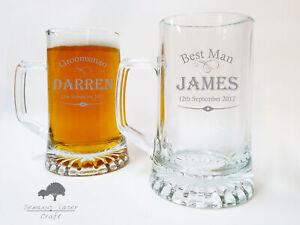 Personalised Engraved Tankard Bridal Wedding Usher/Groom/ Best Man .51L LTA48