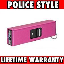 PINK TACTICAL SELF DEFENSE 999 MV MINI RECHARGEABLE POLICE STUN GUN Keychain NEW