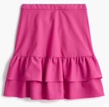 NEW JCREW $98 Wool flannel ruffle skirt Size10 G7119 Vintage Berry