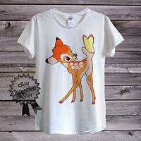 Baby Bambi Deer T-Shirt For Men Women Unisex | Walt Disney Cartoon Clothing Kids