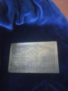 Vintage Historical Collection Colorado State Penitentiary Brass Belt Buckle
