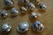 12  MIXED MILITARY BUTTONS, 25 & 20mm  IN SIZE