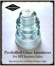 PRE-Drilled Insulator - Glass Insulator Drilled DIY Pendant Light Pipe Lamp