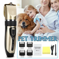 Rechargeable Pet Cat Dog Clipper Grooming Comb Set Electric Clippers Trimmer Kit