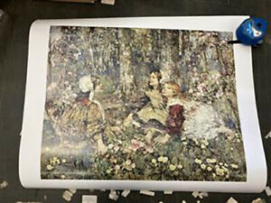 The Music of the Woods by Edward Atkinson Hornel poster print 51 x 61 cm SALE £2