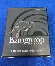 2015 Gold Proof $25 Coin - Kangaroo at Sunset