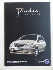 Lancia Phedra - Limited Edition - Prospekt Brochure 02.2009