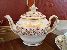 ANTIQUE NEW HALL PATTERN 394 TEA WARE TEAPOT AND SUGAR BOWL WITH LID, CUPS