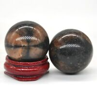 Wholesale 30MM Natural Chiastolite Crystal Healing Reiki Gemstone Shpere Ball