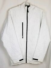Men's Analog White Snowboard Ski Jacket Nylon Waterproof Breathable Hooded Sz XL