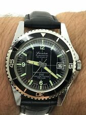 "SICURA BY BREITLING SUBMARINE 200 DIVER VACUUM TESTED TRITIUM 23 JEWELS ""39mm"""