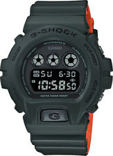 Casio DW6900LU-3 Men's Classic Youth Green/Orange Alarm Chrono G Shock Watch