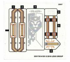 LEGO NEXO KNIGHTS Merlok's Library 2.0 STICKER SHEET ~ Replacement for Set 70324