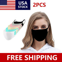 2 PACK Cotton Face Mask 3D Print Masks Washable&Reusable Unisex USA Seller New
