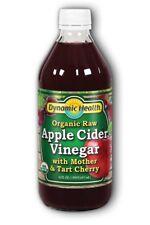 Apple Cider Vinegar w/Mother & Tart Cherry Certified Organic Dynamic Health 16 f