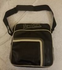VESPA FAUX LEATHER MESSENGER LAPTOP COMMUTER BAG  $89 MSRP Black NEW WITH TAGS!