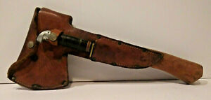 VTG Boy Scouts of America Western Knife & Plumb Hatchet Combo in Leather Sheath
