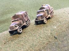 1/100th 15mm Painted WWII German Opel Maultier Truck Wargaming Set of 2