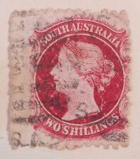 South Australia Queen Victoria Two Shillings Carmine 1860-69 Postage Stamp  #2