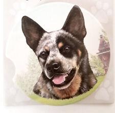 "Australian Cattle Dog Absorbent Car Coaster Stoneware 2.5"" Diameter by E&S Pets"