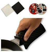 2 Pack Premium Silicone Trivet Mats Hot Pads Heatproof Mat Pot Holder Jar Opener