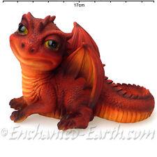 New Vivid Arts /Red Baby Dragon / Garden Ornament /Pagan / Mythical / Boxed