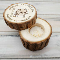 Custom Wedding Ring Box Personalized Wedding Ring Holder Wooden Ring Bearer Box