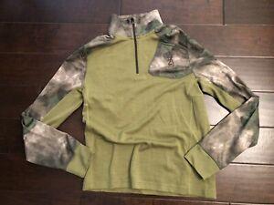 Browning Hell's Canyon Speed MHS 1/4 Zip Pullover Men's M Medium ATACS FG foliag