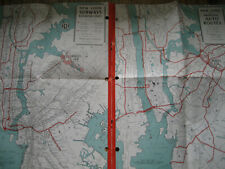 Vtg 1964 New York City Subways & Auto Routes Map w/World's Fair/ Hagstrom