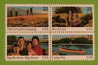 1985 Scott #2160-63 - 22¢ - INTERNATIONAL YOUTH YEAR - Block of Four - Mint NH