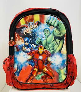 """Marvel Avengers Kids Backpack -15"""" School Bag~Iron Man~Thor~Captain America~Hulk"""