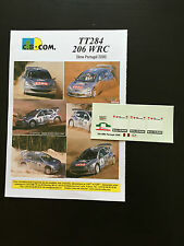 DECALS 1/24 PEUGEOT 206 WRC DELECOUR RALLYE PORTUGAL 2000 RALLY PORTUGHESE