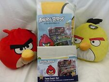 6 pc Angry Birds Twin Microfiber Comforter, Sheets, & Decorative Pillows Set NIP
