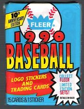 2 (two) 1990 FLEER BASEBALL PACK