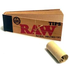 1 PACK OF RAW ROLLING PAPER  NATURAL UNREFINED FILTER TIP - 50 TIPS