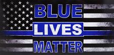 Wholesale Lot of 6 Blue Lives Matter Thin Blue Line Distressed Bumper Sticker