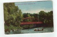 WI Oconomowoc Wisconsin 1908 post card North Main Street Bridge