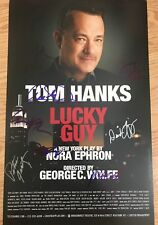 Tom Hanks & Cast signed Lucky Guy 14x22 Broadway Poster. Forrest Gump, Toy Story