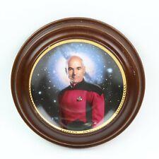 The Hamilton Collection Captain Jean-Luc Picard Star Trek Plate #3315H inc Frame