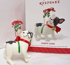 HALLMARK 2014 Puppy Love 24th in series French Bull Dog Ornament New in Box