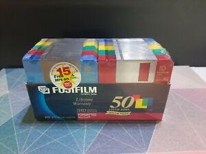 "Fujifilm Floppy Disk 2HD 3.5"" Color Formatted Disks 50-Pack"