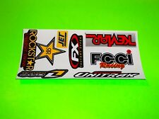 ROCKSTAR ENERGY ONE INDUSTRIES UNITRAX KEVLAR JET FCCI MOTOCROSS STICKERS DECALS