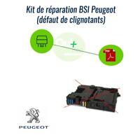 BSI Peugeot 206 probléme clignotants Kit réparation boitier (relais + notice)