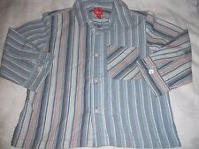 Boys Esprit stripe button front shirt size 1 for 18mths of age
